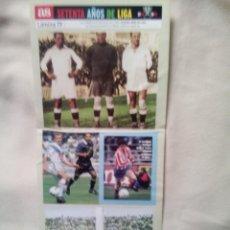 Cromos de Fútbol: PEGATINAS 70 AÑOS DE LIGA DE AS; LAMINA 19. Lote 249577995