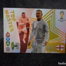 Cromos de Fútbol: ROONEY TOP MASTER ENGLAND INGLATERRA MUNDIAL DE BRASIL 2014 ADRENALYN XL WC 14. Lote 251903430