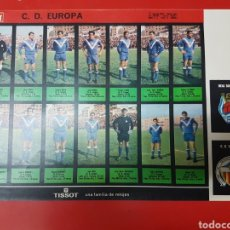 Cromos de Fútbol: CROMOS FUTBOL EL ALCÁZAR C.D. EUROPA LOS JUGADORES UNO A UNO. Lote 251916015