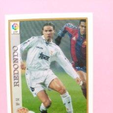 Cromos de Futebol: Nº 14 REDONDO, REAL MADRID CF, FICHAS LIGA 1997 1998 97/98 MUNDICROMO. Lote 252341435
