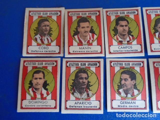 Cromos de Fútbol: (F-210400H)LOTE DE 9 CROMOS SOBRE BALON 1942-43 - ATLETICO CLUB AVIACION - Foto 2 - 253441695