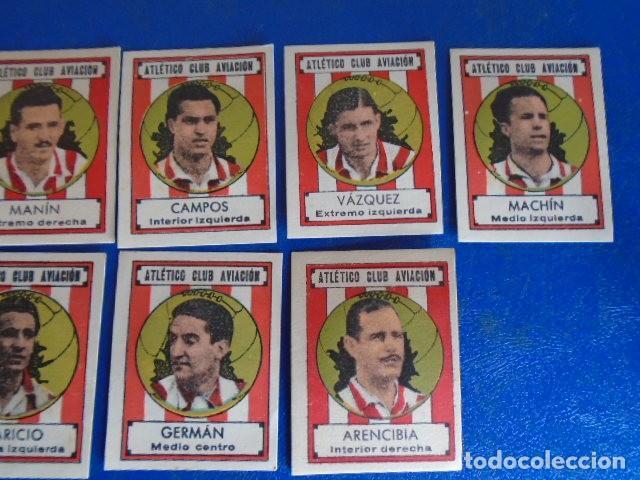 Cromos de Fútbol: (F-210400H)LOTE DE 9 CROMOS SOBRE BALON 1942-43 - ATLETICO CLUB AVIACION - Foto 3 - 253441695