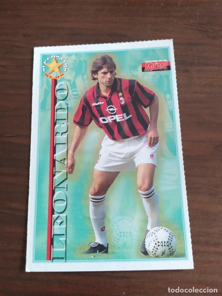 CROMO POSTAL DEL MILAN DE ITALIA DE COLECCION LEONARDO (Coleccionismo Deportivo - Álbumes y Cromos de Deportes - Cromos de Fútbol)