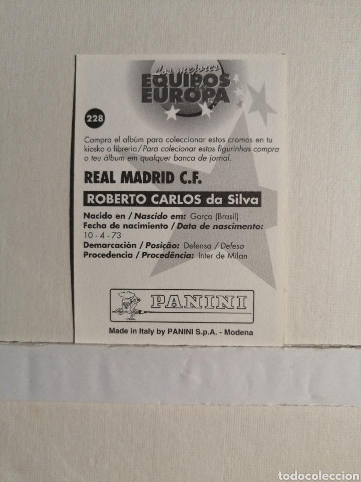 Cromos de Fútbol: Rookie ROBERTO CARLOS Los Mejores Equipos de Europa 96/97 - Foto 2 - 253543605