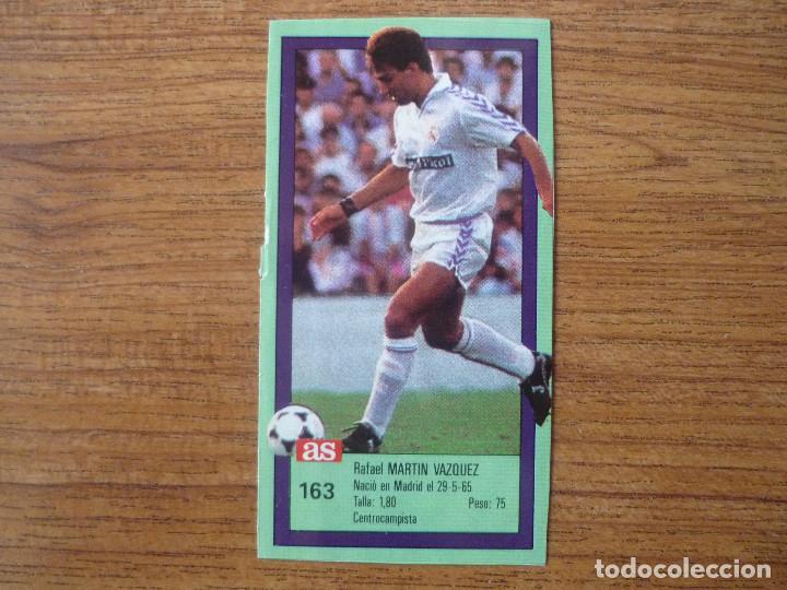CROMO ASES DE LA LIGA 1989 1990 163 MARTIN VAZQUEZ (REAL MADRID) SIN PEGAR ALBUM 89 90 DIARIO AS (Coleccionismo Deportivo - Álbumes y Cromos de Deportes - Cromos de Fútbol)