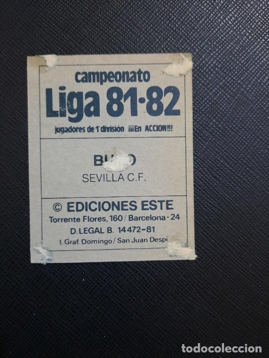 Cromos de Fútbol: BUYO SEVILLA ED ESTE 1981 1982 CROMO FUTBOL LIGA 81 82 DESPEGADO - 1802 - Foto 2 - 253547565