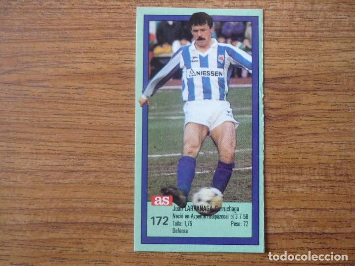 CROMO ASES DE LA LIGA 1989 1990 172 LARRAÑAGA (REAL SOCIEDAD) SIN PEGAR ALBUM 89 90 DIARIO AS (Coleccionismo Deportivo - Álbumes y Cromos de Deportes - Cromos de Fútbol)