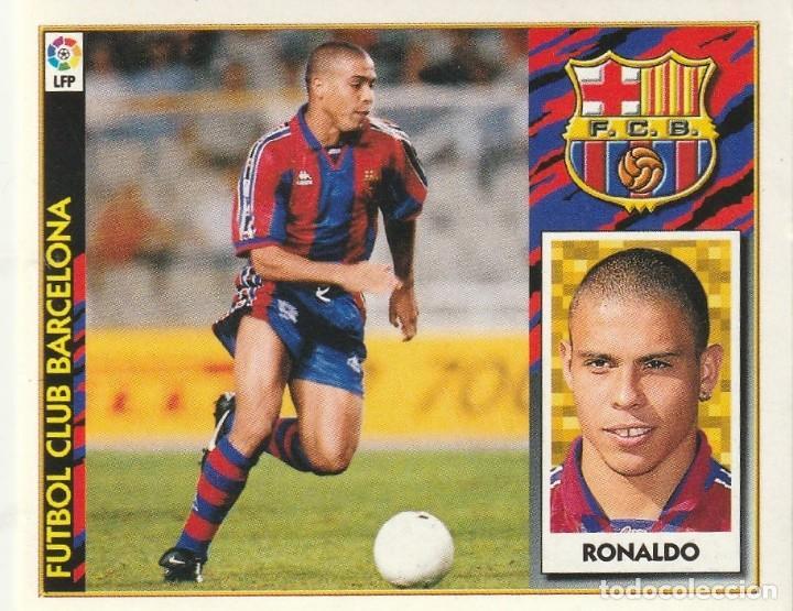 RONALDO BAJA DEL F.C.BARCELONA 1997 1998 ED.ESTE. SIN PEGAR.MUY BIEN (Coleccionismo Deportivo - Álbumes y Cromos de Deportes - Cromos de Fútbol)