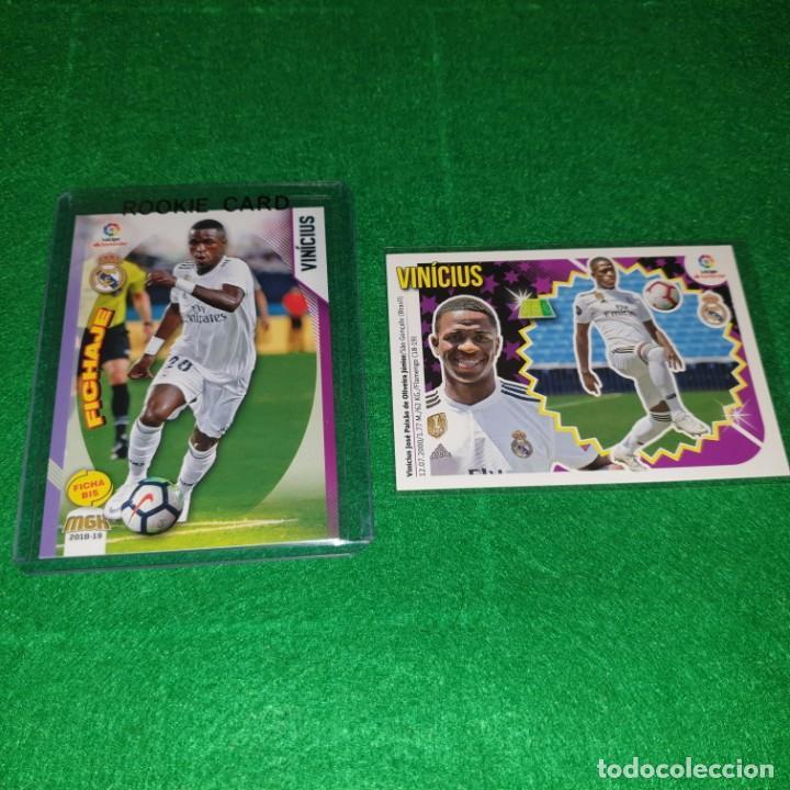 VINICIUS JUNIOR VINI JR LOTE ROOKIES CARDS PANINI MGK ESTE REAL MADRID NEW (Coleccionismo Deportivo - Álbumes y Cromos de Deportes - Cromos de Fútbol)