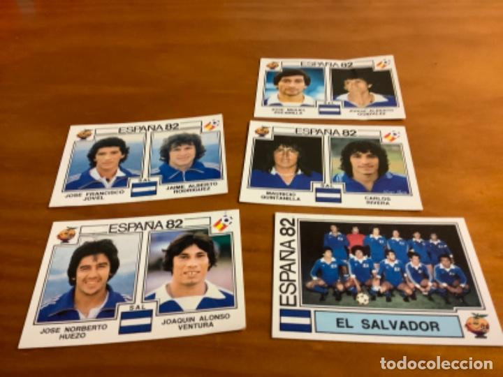 LOTE 5 CROMOS SELECCION DE EL SALVADOR EDITORIAL PANINI ESPAÑA 82 (Coleccionismo Deportivo - Álbumes y Cromos de Deportes - Cromos de Fútbol)