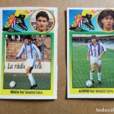 Cromos de Fútbol: ALFONSO BAJA Y GRACIA COLOCA REAL VALLADOLID, EDITORIAL ESTE 93/94, RECUPERADOS. Lote 253878595