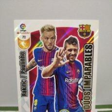 Cromos de Fútbol: CROMO N°72 DUOS IMPARABLES (FC BARCELONA) - ADRENALYN LIGA 2017-2018 - PANINI CARD. Lote 253921270