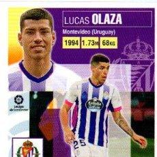 Cromos de Futebol: LUCAS OLAZA 33 VALLADOLID LIGA ESTE MERCADO INVIERNO + ACTUALIZACIÓN JUGÓN 169 2021 2020 21 20. Lote 253941660