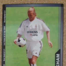 Cromos de Fútbol: BECKHAM ROOKIE CARD DEL R MADRID. NUEVO MUNDICROMO 03/04 2004. Lote 253984775