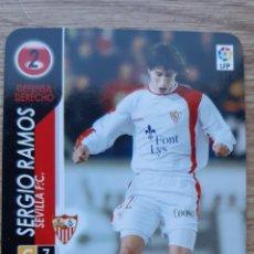 Cromos de Fútbol: SERGIO RAMOS ROOKIE CARD DERBY TOTAL 04/05 2004 2005. NUEVO. Lote 253991575