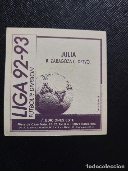 Cromos de Fútbol: JULIO ZARAGOZA ESTE 1992 1993 CROMO LIGA FUTBOL 92 93 - A31 - DESPEGADO - PG109 - Foto 2 - 254009075