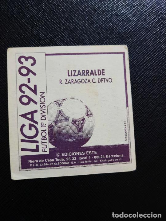 Cromos de Fútbol: LIZARRALDE ZARAGOZA ESTE 1992 1993 CROMO LIGA FUTBOL 92 93 - A31 - DESPEGADO - PG109 - Foto 2 - 254009180