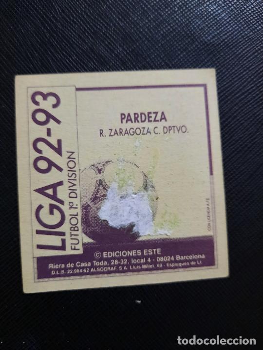 Cromos de Fútbol: PARDEZA ZARAGOZA ESTE 1992 1993 CROMO LIGA FUTBOL 92 93 - A31 - DESPEGADO - PG109 - Foto 2 - 254009290