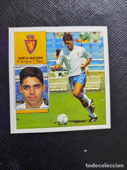 GARCIA SANJUAN ZARAGOZA ESTE 1992 1993 CROMO LIGA FUTBOL 92 93 - A31 - DESPEGADO - PG109 (Coleccionismo Deportivo - Álbumes y Cromos de Deportes - Cromos de Fútbol)