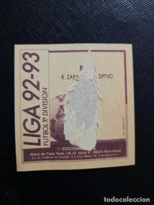 Cromos de Fútbol: POYET ZARAGOZA ESTE 1992 1993 CROMO LIGA FUTBOL 92 93 - A31 - DESPEGADO - PG109 - Foto 2 - 254009590