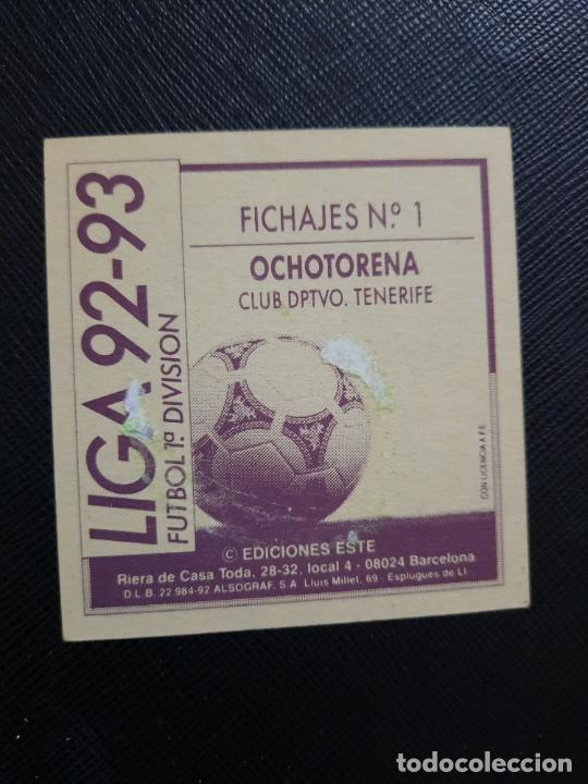 Cromos de Fútbol: OCHOTORENA TENERIFE ESTE 1992 1993 CROMO LIGA FUTBOL 92 93 - A31 - DESPEGADO - PG109 FICHAJE 1 - Foto 2 - 254009770