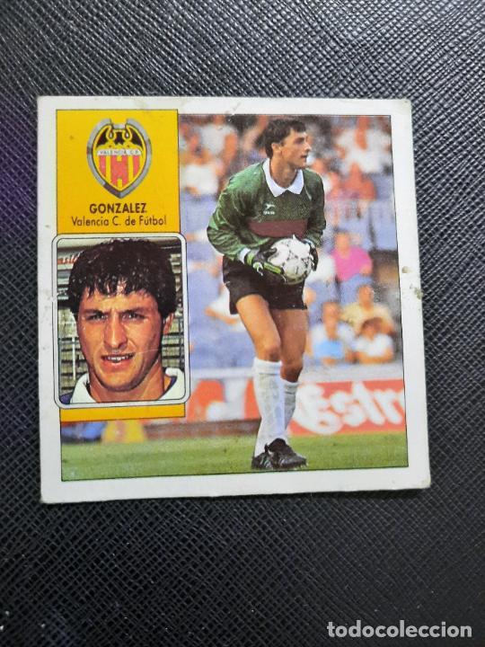 GONZALEZ VALENCIA ESTE 1992 1993 CROMO LIGA FUTBOL 92 93 - A31 - DESPEGADO - PG127 FICHAJE 8 (Coleccionismo Deportivo - Álbumes y Cromos de Deportes - Cromos de Fútbol)