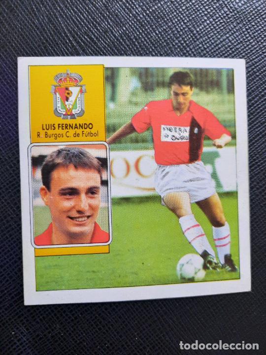 LUIS FERNANDO BURGOS ESTE 1992 1993 CROMO LIGA FUTBOL 92 93 - A31 - DESPEGADO - PG127 FICHAJE 11 (Coleccionismo Deportivo - Álbumes y Cromos de Deportes - Cromos de Fútbol)
