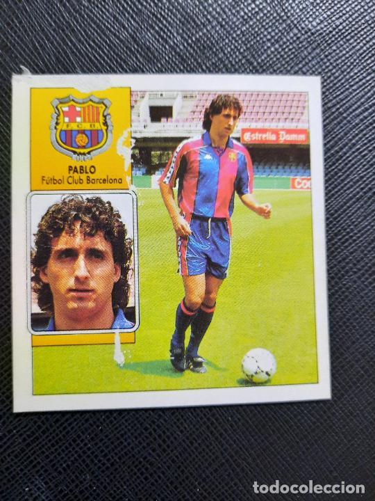 PABLO BARCELONA ESTE 1992 1993 CROMO LIGA FUTBOL 92 93 - A31 - DESPEGADO - PG127 FICHAJE 15 (Coleccionismo Deportivo - Álbumes y Cromos de Deportes - Cromos de Fútbol)