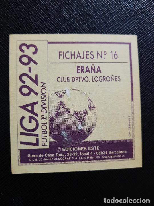 Cromos de Fútbol: ERAÑA LOGROÑES ESTE 1992 1993 CROMO LIGA FUTBOL 92 93 - A31 - DESPEGADO - PG127 FICHAJE 16 - Foto 2 - 254011860