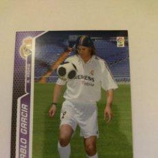 Cromos de Fútbol: MEGACRACKS 05/06. #193 PABLO GARCIA. REAL MADRID.. Lote 254078745