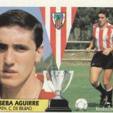 Cartes à collectionner de Football: JOSEBA AGUIRRE DEL ATHLETIC CLUB DE BILBAO 1987 1988 EDICIONES ESTE NUEVO. SIN PEGAR. 87 88. Lote 254101590