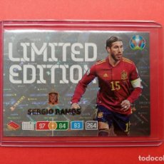 Cromos de Fútbol: EDICION LIMITADA SERGIO RAMOS ESPAÑA REAL MADRID UEFA EURO 2020 PANINI ADRENALYN XL LIMITED EDITION. Lote 254384725