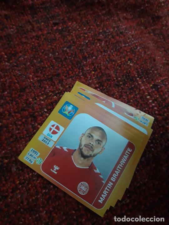 BRAITHWAITE DINAMARCA 171 EURO 2020 20 TOURNAMEMT EDITION TRADING CARD FOOTBALL (Coleccionismo Deportivo - Álbumes y Cromos de Deportes - Cromos de Fútbol)