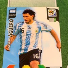 Figurine di Calcio: SERGIO AGÜERO ARGENTINA CROMOS ADRENALYN XL MUNDIAL SOUTH AFRICA 2010 FIFA WORLD CUP PANINI. Lote 254584455