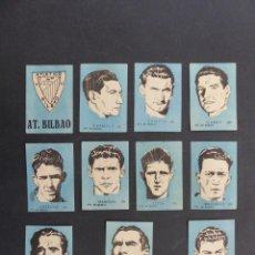 Figurine di Calcio: ATH. BILBAO - 11 CROMOS DIFERENTES - CHOCOLATES EL LINCE Y MADAM - AÑO 1951 - VER FOTOS ADICIONALES. Lote 254708300