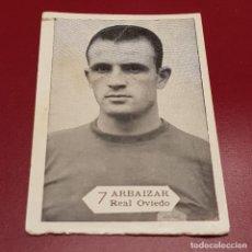 Cromos de Fútbol: GRAFICAS NILO - FOTO FUTBOL CAMPEONATO 1958 1959 - 58 59 - OVIEDO - ARBAIZAR 7 - NUNCA PEGADO. Lote 254801505