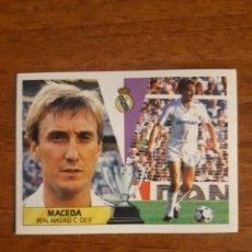 Cromos de Fútbol: MACEDA (REAL MADRID) LIGA 87-88 ESTE. NUNCA PEGADO. Lote 254807710