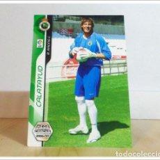 Cartes à collectionner de Football: MEGACRACKS 2006 2007 06 07 PANINI. CALATAYUD Nº 481 FICHAJE (RACING SANTANDER) CARD LIGA ALBUM MGK. Lote 254826760
