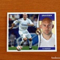 Cromos de Fútbol: REAL MADRID - GRAVESEN - BAJA - LIGA 2006-2007, 06-07 - EDICIONES ESTE - NUNCA PEGADO. Lote 254943380