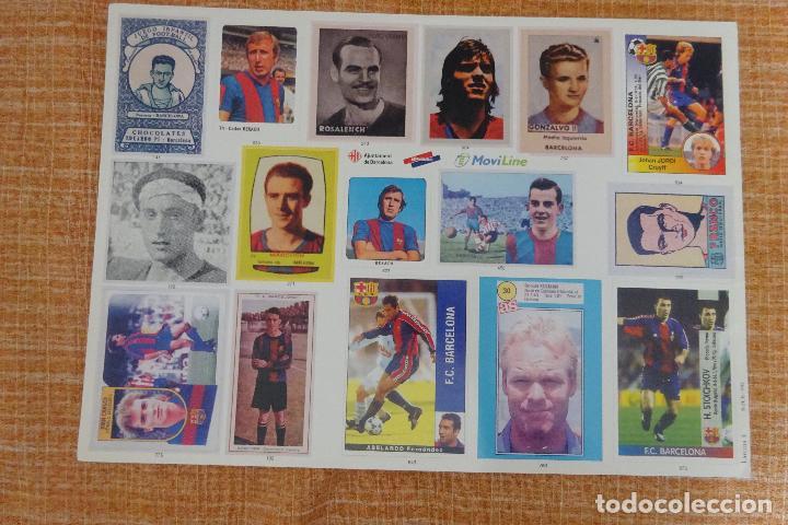 LÁMINA 4 L'ALBUM DEL BARÇA (Coleccionismo Deportivo - Álbumes y Cromos de Deportes - Cromos de Fútbol)