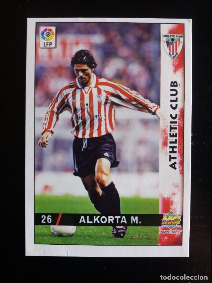 26 ALKORTA - ATHLETIC CLUB - MUNDICROMO 98/99 (Coleccionismo Deportivo - Álbumes y Cromos de Deportes - Cromos de Fútbol)