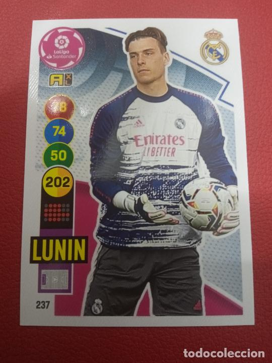 Nº 237 LUNIN REAL MADRID ADRENALYN XL 2020 2021 CARDS PANINI 20 21 (Coleccionismo Deportivo - Álbumes y Cromos de Deportes - Cromos de Fútbol)