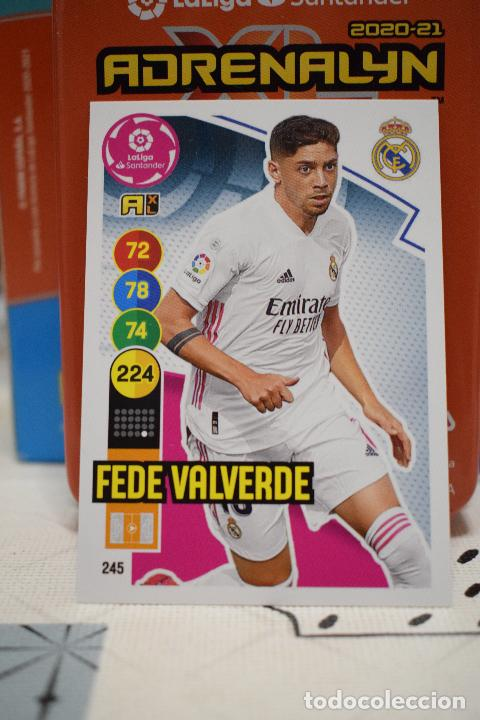Nº 245 VALVERDE REAL MADRID ADRENALYN XL 2020 2021 CARDS PANINI 20 21 (Coleccionismo Deportivo - Álbumes y Cromos de Deportes - Cromos de Fútbol)