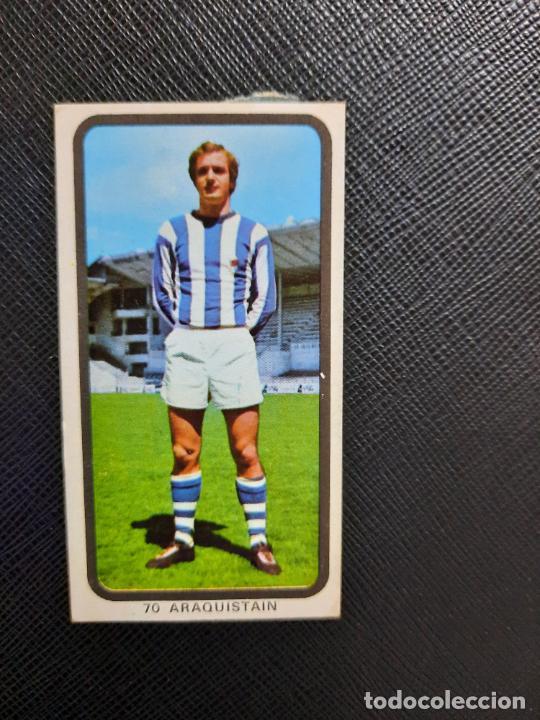 ARAQUISTAIN REAL SOCIEDAD RUIZ ROMERO 1974 1975 CROMO FUTBOL LIGA 74 75 DESPEGADO - A31 - PG199 70 (Coleccionismo Deportivo - Álbumes y Cromos de Deportes - Cromos de Fútbol)