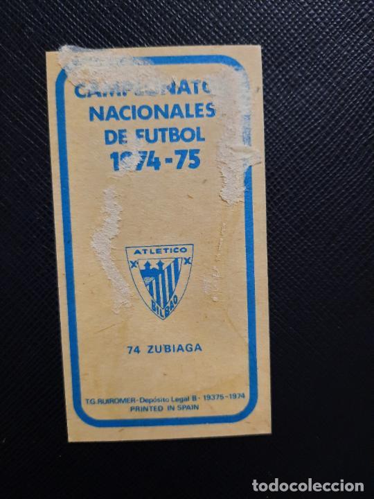 Cromos de Fútbol: ZUBIAGA BILBAO RUIZ ROMERO 1974 1975 CROMO FUTBOL LIGA 74 75 DESPEGADO - A31 - PG199 74 - Foto 2 - 255371195