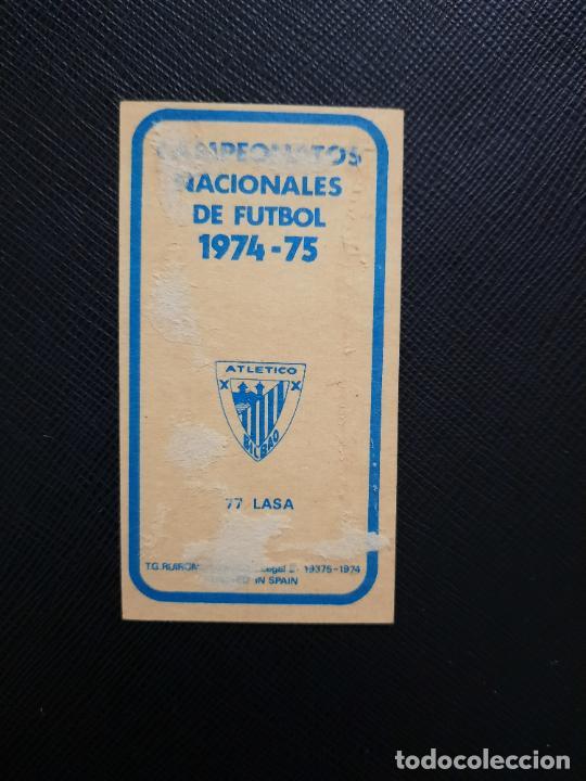 Cromos de Fútbol: LASA BILBAO RUIZ ROMERO 1974 1975 CROMO FUTBOL LIGA 74 75 DESPEGADO - A31 - PG208 77 - Foto 2 - 255372360