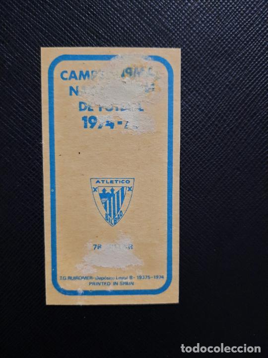 Cromos de Fútbol: VILLAR BILBAO RUIZ ROMERO 1974 1975 CROMO FUTBOL LIGA 74 75 DESPEGADO - A31 - PG208 78 - Foto 2 - 255372500