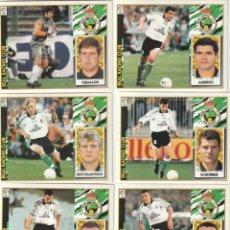 Cromos de Fútbol: 6 CROMOS DIFERENTES Y NUEVOS RACING DE SANTANDER.LISTA. 1997 1998 EDICIONES ESTE. NUEVO. 97 98. Lote 255596360