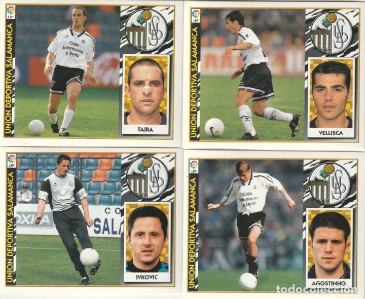 4 CROMOS DIFERENTES Y NUEVOS DEL SALAMANCA.LISTA. 1997 1998 EDICIONES ESTE. NUEVO. 97 98 (Coleccionismo Deportivo - Álbumes y Cromos de Deportes - Cromos de Fútbol)