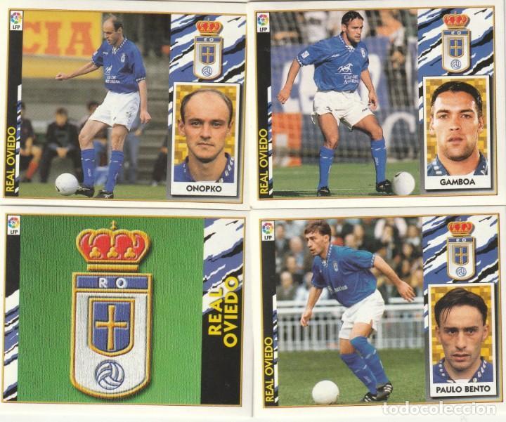 4 CROMOS DIFERENTES Y NUEVOS DEL OVIEDO. .LISTA. 1997 1998 EDICIONES ESTE. NUEVO. 97 98 (Coleccionismo Deportivo - Álbumes y Cromos de Deportes - Cromos de Fútbol)